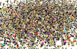 Cartoon Crowd, Inside Cloud Stock Photos