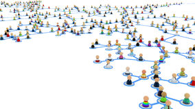 Cartoon Crowd Links, Branch Close-up Stock Photos