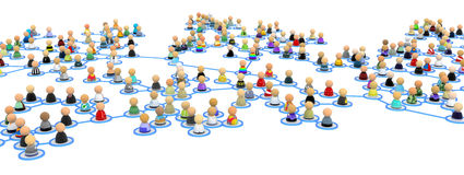 Cartoon Crowd Links, Branch Span Royalty Free Stock Image