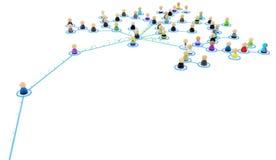 Cartoon Crowd Links, Fund Branch Stock Image