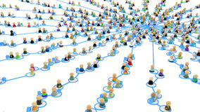 Cartoon Crowd Links, Supply Web Center Stock Photos