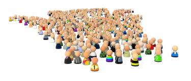 Cartoon Crowd, Many stock illustration