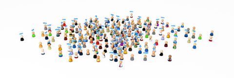 Free Cartoon Crowd, Own Directions Stock Image - 12232261