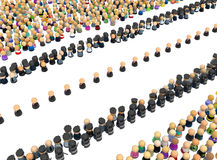 Cartoon Crowd, Procession Security Stock Photography