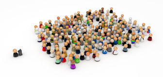 Cartoon Crowd, Public Speech Royalty Free Stock Image