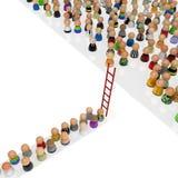 Cartoon Crowd, Red Ladder vector illustration