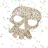Cartoon Crowd, Skull Shape Royalty Free Stock Image