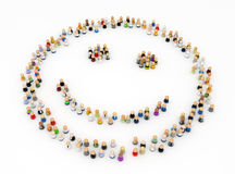 Cartoon Crowd, Smiley Shape Royalty Free Stock Images