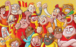 Cartoon crowd Royalty Free Stock Image