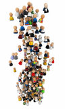 Cartoon Crowd, Vertical Cloud Royalty Free Stock Image