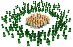Cartoon Crowd, Virtual People Stock Image