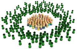 Cartoon Crowd, Virtual People Stock Image