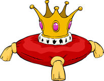 Cartoon crown Royalty Free Stock Image