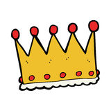 cartoon crown Stock Images