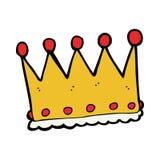 cartoon crown Stock Images