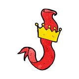 cartoon crown and scroll Royalty Free Stock Images