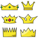 Cartoon crowns Stock Images