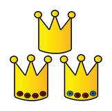 Cartoon crowns Royalty Free Stock Image