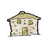 Cartoon crumbling old house Stock Image
