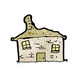 Cartoon crumbling old house Royalty Free Stock Photos