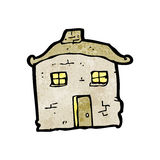 Cartoon crumbling old house Stock Photography