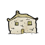 Cartoon crumbling old house Royalty Free Stock Photography