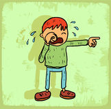 Cartoon cry illustration, vector icon Royalty Free Stock Photography