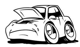 Cartoon crying car Stock Photography