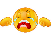 Cartoon Crying emoticon Stock Photo