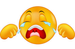 Cartoon Crying emoticon Royalty Free Stock Images