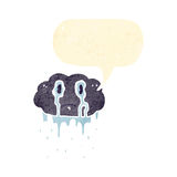 Cartoon crying rain cloud Royalty Free Stock Photo