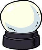 Cartoon crystal ball. Cartoon doodle crystal ball on a white background illustration Royalty Free Stock Photos