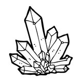 Cartoon crystals Royalty Free Stock Image