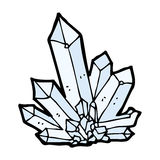 Cartoon crystals Royalty Free Stock Images