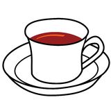 Cartoon of cup of coffee Stock Images