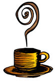 Cartoon of cup of coffee design Royalty Free Stock Photography