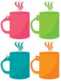 Cartoon Cup Design Royalty Free Stock Photography
