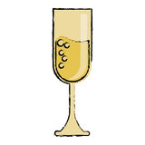 Cartoon cup glass champagne love celebration Stock Images