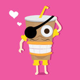 Cartoon cup Stock Images