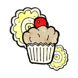 Cartoon cupcake Royalty Free Stock Images