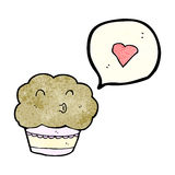 Cartoon cupcake Royalty Free Stock Images