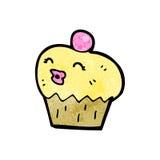 Cartoon cupcake Stock Photography