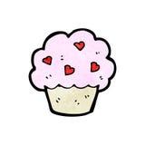 Cartoon cupcake Stock Images