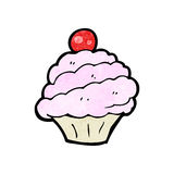 Cartoon cupcake Royalty Free Stock Photos