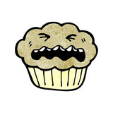 Cartoon cupcake Royalty Free Stock Image