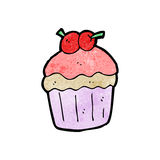 Cartoon cupcake Stock Photo