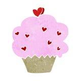 Cartoon cupcake Stock Image