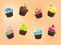 Cartoon Cupcake Collection Royalty Free Stock Image