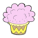 Cartoon cupcake Stock Image