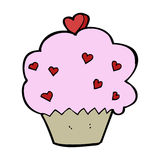 Cartoon cupcake Stock Images